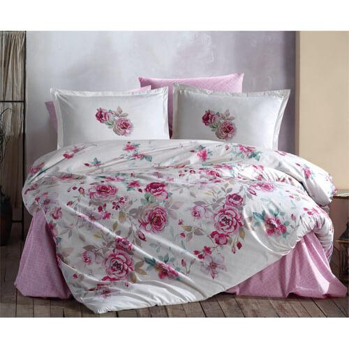 bettwaesche-200x220-cm-4-teilig-set-rosa-gebluemt-100-baumwolle-renforce-2-mal-kopfkissenbezuge-50x70-cm-mit-bettlaken-desima