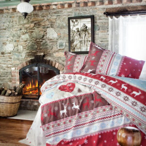 flanell-winter-bettwaesche-135x200-cm-santa-3tlg-set-100baumwolle-mit-reissverschluss